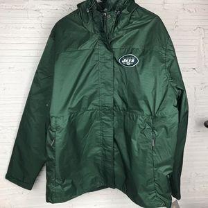 NFL Mens NY Jets Green Jacket Size XL
